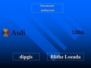 Presentación  institucional
