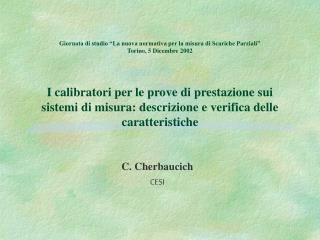C. Cherbaucich CESI