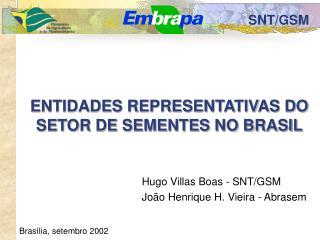 ENTIDADES REPRESENTATIVAS DO SETOR DE SEMENTES NO BRASIL