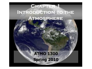 Chapter 1 Introduction to the Atmosphere