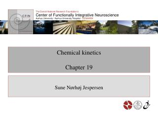 Chemical kinetics Chapter 19