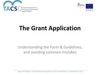 The Grant Application