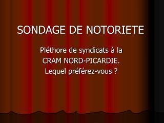 SONDAGE DE NOTORIETE