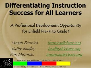 Differentiating Instruction  Success for All Learners