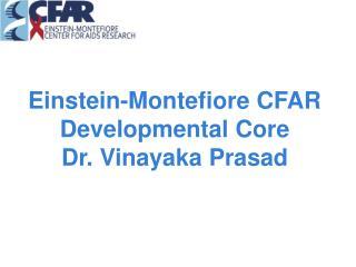 Einstein-Montefiore CFAR Developmental Core Dr.  Vinayaka  Prasad