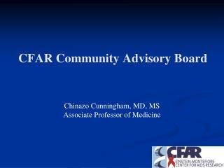 CFAR Community Advisory Board