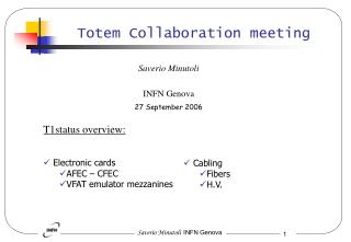 Totem Collaboration meeting