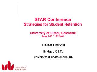 Helen Corkill Bridges CETL University of Bedfordshire, UK
