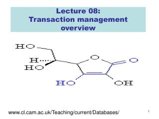 Lecture 08: Transaction management overview