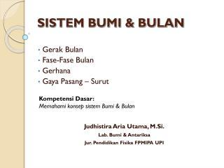 SISTEM BUMI & BULAN