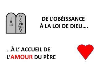 DE L'OBÉISSANCE   À LA LOI DE DIEU….