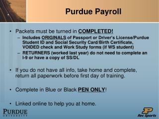 Purdue Payroll