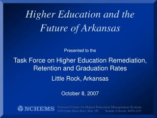 Higher Education and the Future of Arkansas