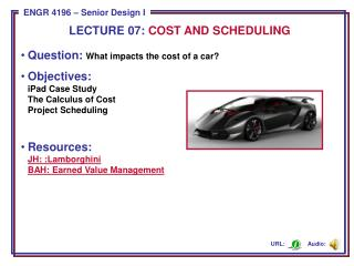 Question:  What impacts the cost of a car?