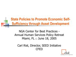 State Policies to Promote Economic Self-Sufficiency through Asset Development