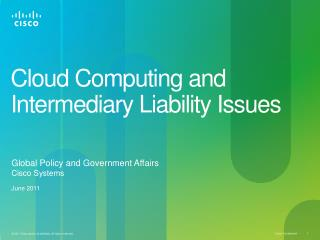 Cloud Computing and Intermediary Liability Issues