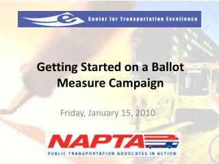 Getting Started on a Ballot Measure Campaign