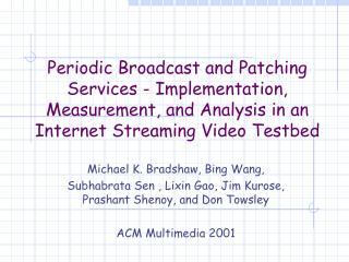 Michael K. Bradshaw, Bing Wang,