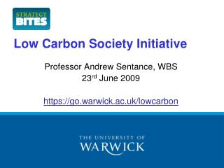 Low Carbon Society Initiative