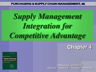 Supply Management Integration for Competitive Advantage