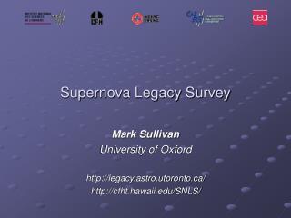 Supernova Legacy Survey