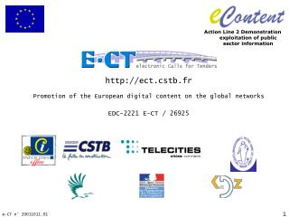 Promotion of the European digital content on the global networks