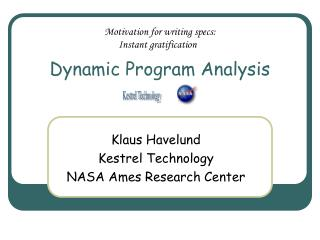 Dynamic Program Analysis
