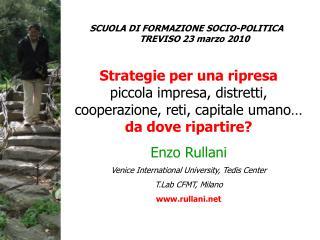 Strategie per una ripresa piccola impresa, distretti, cooperazione, reti, capitale umano…