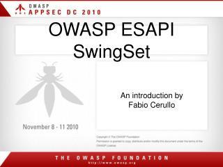 OWASP ESAPI SwingSet