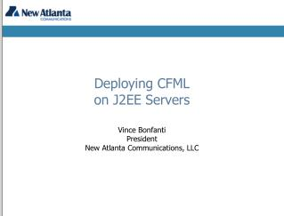Deploying CFML on J2EE Servers
