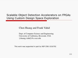 Scalable Object Detection Accelerators on FPGAs Using Custom Design Space Exploration