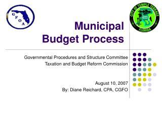 Municipal  Budget Process