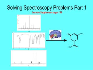 Solving Spectroscopy Problems Part 1 Lecture Supplement page 159