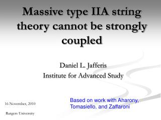 Massive type IIA string theory cannot be strongly coupled