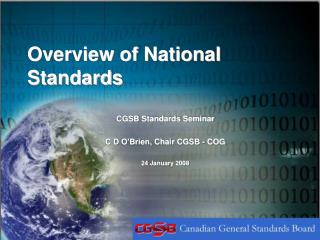 Overview of National Standards
