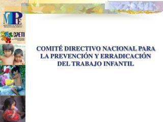 COMITÉ DIRECTIVO NACIONAL PARA LA PREVENCIÓN Y ERRADICACIÓN DEL TRABAJO INFANTIL