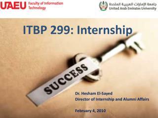 ITBP 299: Internship