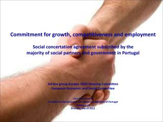 Commitment for growth, competitiveness and employment