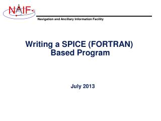 Writing a SPICE (FORTRAN)  Based Program