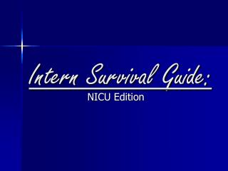 Intern Survival Guide: