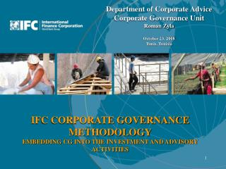 IFC CORPORATE GOVERNANCE METHODOLOGY EMBEDDING CG INTO THE INVESTMENT AND ADVISORY ACTIVITIES