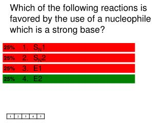 Which of the following reactions is favored by the use of a nucleophile which is a strong base?