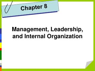 Management, Leadership, and Internal Organization