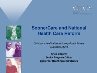 SoonerCare and National Health Care Reform