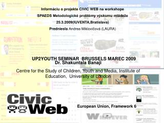 UP2YOUTH SEMINAR  BRUSSELS MAR EC  2009