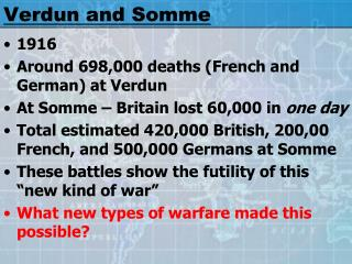 Verdun and Somme