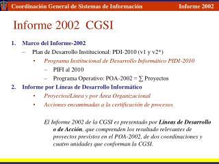 Informe 2002  CGSI