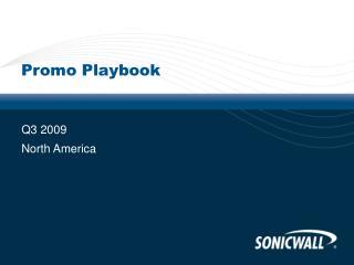 Promo Playbook