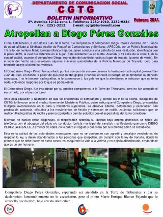 DEPARTAMENTO DE COMUNICACION SOCIAL