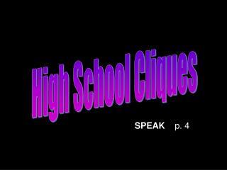 High School Cliques